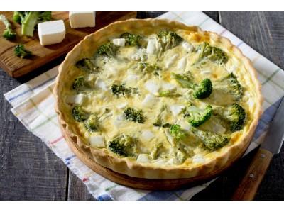 Quiche brocolis Camembert - La Ferme de Caillouet