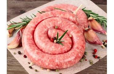 Saucisses par 5 kg - La Ferme de Caillouet